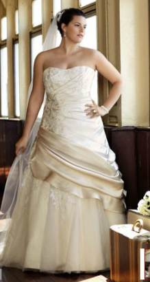 Ivory wedding dresses and other shades of white bridal gowns for Wedding dress shades of white